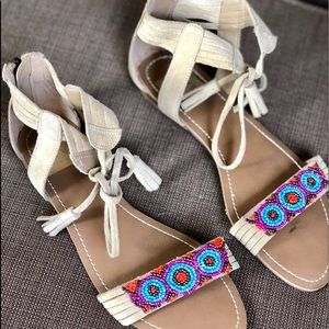 Dolce Vita sandal beads faux suede 7.5